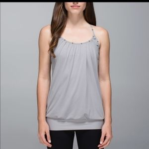 Lululemon no limits tank with built in shelf bra